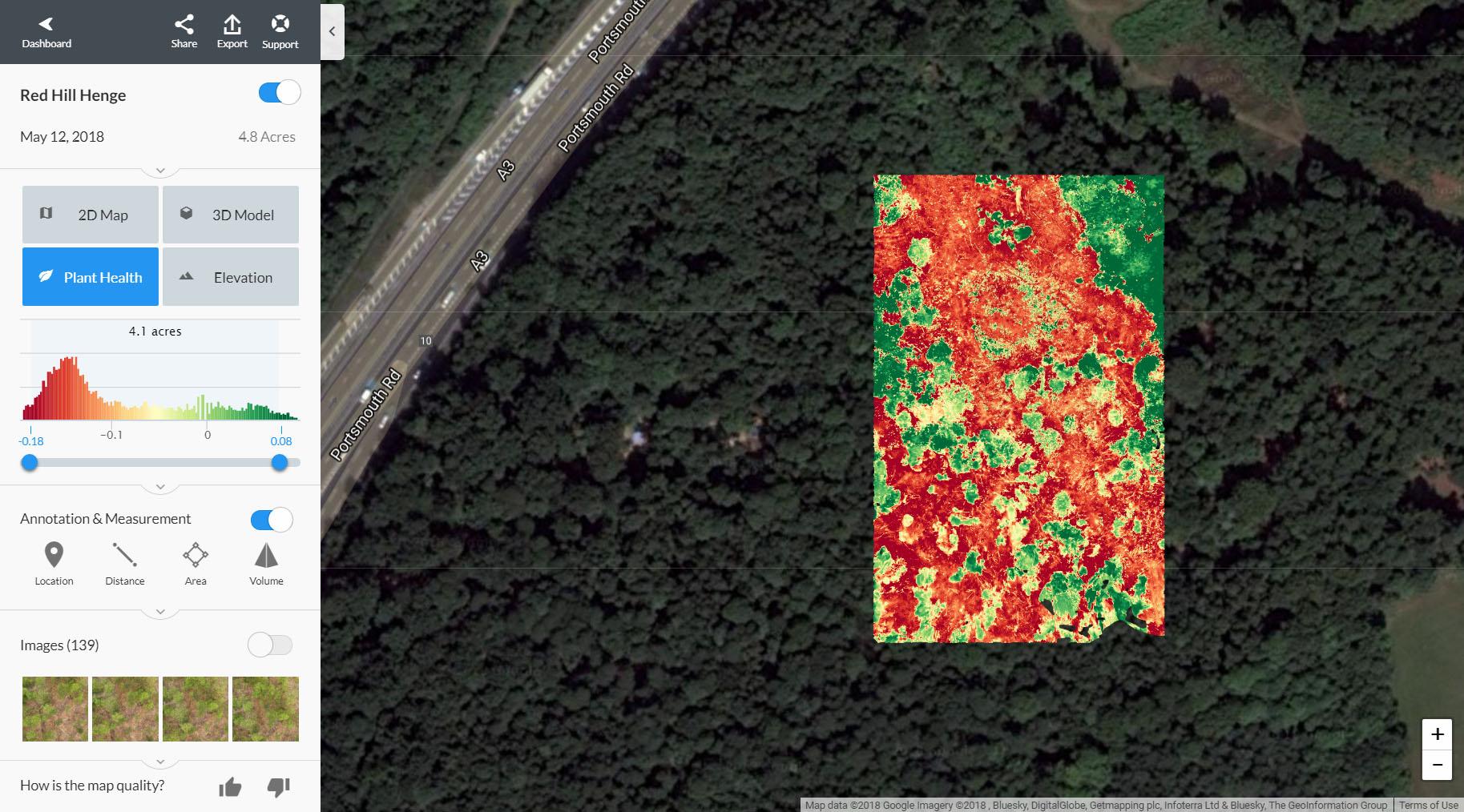NDVI map